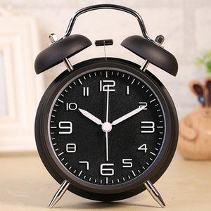 Алый камень 4 дюйма Трехмерный цифровой будильник Оригинальность Классический Mute Student громкий двойной Белл кольцо A Bell Clock