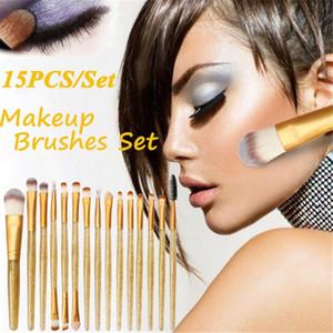 15pcs set Cosmetic Beauty Make Up Brush Tool Kit Diamond Makeup Brushes Set Powder Foundation Blush Blending Eye Shadow Lip