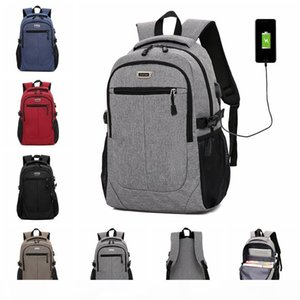 31 New Computer Backpack Multi-function Usb Large Charging Casual College Student Bag Wear-resistant Fabric Easy And Effortless