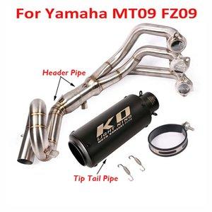 Para MT09 FZ09 de deslizamiento en todo el sistema de escape de la motocicleta de tubo silenciador de escape Consejo cabecera de la conexión de tuberías de deslizamiento Enlace