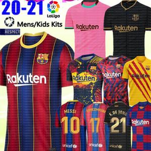 20 21 FC BARCELONA futbol forması MESSI Griezmann F. de Jong COUTINHO Maillots futbol forması futbol forması erkekler çocuklar kiti camisa Pique de