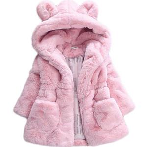 Bibihou d'hiver de bébé filles en fausse fourrure Toison manteau Pageant hiver chaud Veste d'habits de neige Manteaux Enfants Vêtements de bébé Y200831