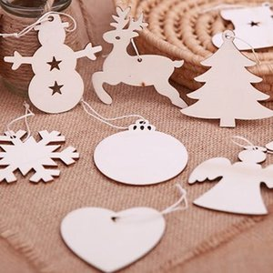 Wood color Home creative American country wooden Christmas tree pendant decoration handmade accessories Christmas decoration diy wood chips