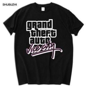 Grand Theft Auto Gta Vice City T-Shirt Хлопок моды Марка T Shirt Men New высокого качества
