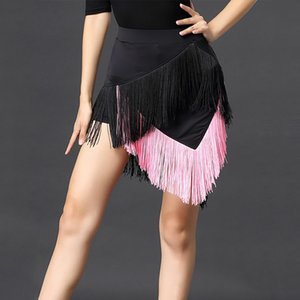 Fringe Latin Dance Skirt For Women Black Latino Dance Costume Cha Cha Outfits Tango Wear Sexy Salsa Dancing Skirts JL1502