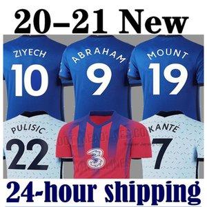 Chelsea Thailand 2020 2021 WERNER PULISIC KANTE ABRAHAM MONTAGE ZIYECH Fußballtrikots Fußballtrikot Kits Trikot 20 21 MÄNNER KINDER SETS