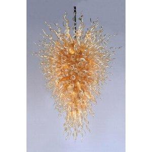 الإيطالية بهو كبير الذهبي الثريا عالية الجودة اليد الجميلة في مهب فن الزجاج الكريستال ضوء الثابت للفندق Lobbby