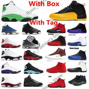 12 12s escuro Concord Índigo preto universidade ouro negro Jogo Real Mens tênis de basquete 13s 3M Sorte verde Flint Outdoor Sneakers com caixa