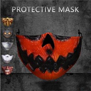 Hallowmas Scary máscara de la mascarilla PM2.5 Con 2pcs Filtrar divertido payaso cráneo boca máscaras protectoras de polvo de Spider-man Hulk Imprimir diseñador de la máscara GWC2234