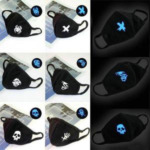 Mask Unisex 6 Luminous Discount Cotton Masks 6 Doublewood Luxurious Off Mouth Glow Face Black Cool Doublewood sqcWR worldkick2018