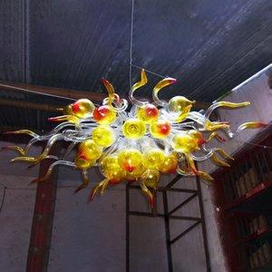 люстры освещение LED люстры Vintage Loft Gold Clear Red пузырьковые Светильники для интерьера Кафе Ресторан Бар Коридора художественное оформление