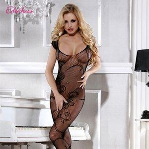 I6I4a pijamas ropa interior Sling medias de seda tentación ropa interior atractiva malla medias honda mono traje uniforme