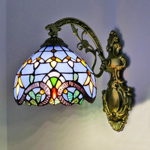 WOERFU Tiffany Wall Lamp European Minimalist Creative Lighting Mediterranean Single Head Wall Lamps