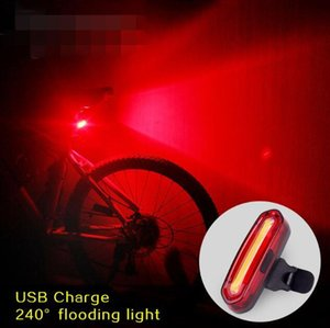 Waterproof Bike Light 100 LM Rechargeable COB LED USB Mountain Bike Tail Light Taillight MTB Safety Warning Bicycle Rear Light Bicycle Lamp