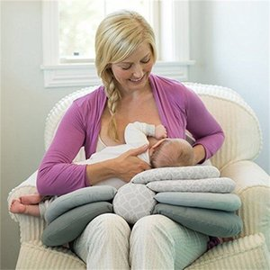 Hipac Baby Nursing Pillows Maternity Newborn Breastfeeding Pillow for Baby Infant Cuddle Cotton Feeding Waist Cushion Pillows LJ200918