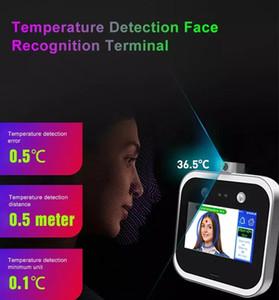 Riconoscimento del volto RFID Time Frequenza Controllo degli accessi con allarme IR Termometro per alta temperatura