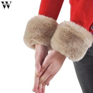 Amazing Fashion Winter Warm Women's Faux Fur Wrist Warmer Slap On Cuffs
