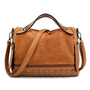 Womens Large Designer Style Tote Bag New Shoulder Handbag Cross Body Shopper Bag Studded Scrub Tote Bag Crossbody Shoulder Tote
