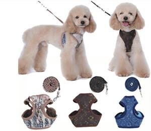 I progettisti Pet cablaggi Leashe lettera di modo ricamo Cute Teddy Puppy Small Dog Supplies personalità dell'animale domestico Guinzaglio Collar01