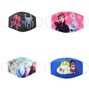 Детская Замороженный Marvel Сладкие партии Человек-паук Губка Противопыльный Защитные Maks для мальчиков девочек Cute Респиратор Kids Face 3-