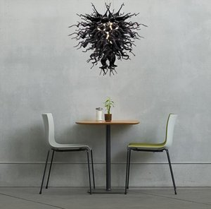 Precio barato Classic Negro lámparas de Murano lámpara de cristal de la sala de Led 100% soplado a mano lámpara de cristal y lámparas colgante
