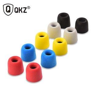 Barato fone de ouvido Acessórios QKZ T400 10 pcs fone de ouvido dicas Memory Foam QKZ originais 5 pares espuma dicas T400 Pads ouvido para todos