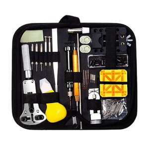 150 Pieces Watch Repair Tool Kit Watch Link Pin Remover Shell Opener Spring Bar Remover Battery Replacement Strap Needle T