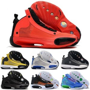 2020 New Jumpman XXXIV 34 Blue Void Men Kids Basketball Shoes 34s Zoom Amber Rise Eclipse Snow Black Cat Mens sports sneakers Sneakers