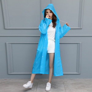 A Non-Disposable Raincoat Frosted Thickened Adult Transparent Raincoat Poncho Outdoor Men And Women Raincoat Wholesale Customization