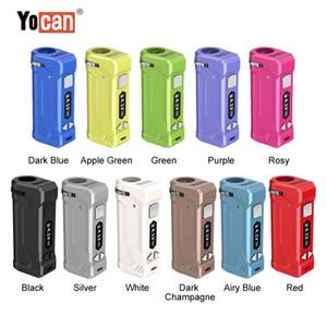 100 % 원래 Yocan UNI 프로 조정 직경 다이얼 OLED 디스플레이 스크린 전자 담배 모 Vape 정통와 상자 모 650mah 배터리