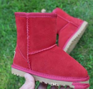 Satış-Satış Marka Sıcak Çocuk Kız Boots Kış Çocuklar Kar Boots Çocuk Peluş Sıcak Ayakkabı Bilek Bebek Boys Boots Ayakkabı Isınma Ayakkabı