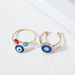 Кластерные кольца 1шт старинные этнические злые глаза открытое кольцо для женщин Богемский уникальный золотой цвет регулируемый круглый палец турецкий подарок ювелирных изделий