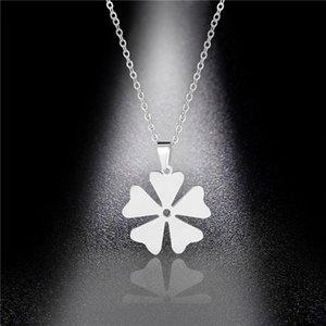Нержавеющая сталь Небольшая ветрянка Подвеска Небольшое Цветочное Ожерелье Женская Мода Простая цепочка ключицы Подарок
