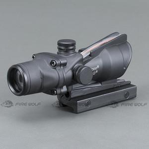 Usa Trijicon Stock Hunting Riflescope Acog 4x32 Real Fiber Optics Red Green Illuminated Chevron Glass Etched Reticle Tactical Optical Sight