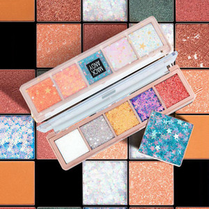Sparkly Star Color Eye Shadow Tray for a Durable Non-staining Portable Eye Shadow 1Pcs