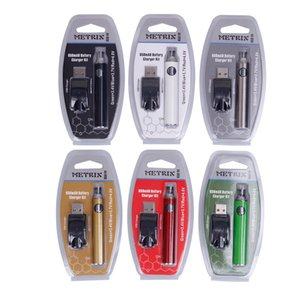 510 Kalın Petrol Kartuşları Metrix Onceden Pil Blister Kiti 650mAh Vertex Ön ısıtma Değişken Voltaj VV Pil USB Şarj Vape Kalem