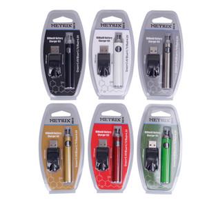Metrix Preheat Battery Blister Kit 650mAh Vertex Preheating Variable Voltage VV Battery USB Charger Vape Pen For 510 Thick Oil Cartridges