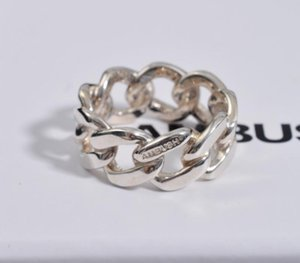 Hip Hop Ambush Ring 19ss New Cuban Chain Rings 925 Silver Ring Men and Women Couples Personal Bijoux Christmas66