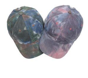 Chapéus tie-tingido tingido chapéu protetor solar sunshade tampões gradiente outdoor chapéus coloridos festa chapéus pescador headgear esporte boné de beisebol dhc350