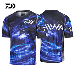 2020 New Summer Fishing Shirt Short Sleeve Breathable Sports Thirt Fishing Clothing Print Jersey Quick-dry Clothing