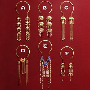 8 Designs Ancient Chinese Blau Cloisonné Weiche Halskette Weinlese Yingluo Troddel-Halskette Perlen-Achat Braut Hochzeit
