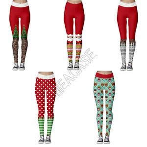 Leggings estiramento apertadas calças Sports Yoga Mulheres Moda de Jogging calças compridas lápis Pant Natal Papai Playsuit Boutique Roupa D9104