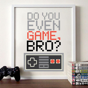Games Controller Canvas Painting Wall Pictures Do You Even Game Bro Gamer Video Canvas Art Prints And Poster Boys Room Decor
