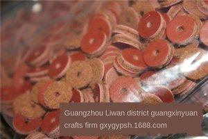 QSIMO pelle bovina spcer dimetro 6 8 10 12 14 millimetri imittion gsket Buddh perline 500 pezzi pad in pelle pad in pelle Buddha perline un pacchetto