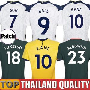20 21 Thailand Tottenham KANE BERGWIJN Fußballtrikots Sporen 2020 2021 LUCAS DELE SON Fußballtrikot gesetzt NDOMBELE Männer Kinder-Kit Uniformen