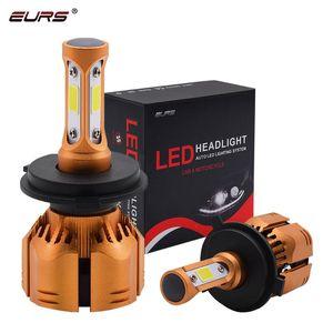 EURS New S2 H7 4300K LED Car Headlight 3000K 6000K 8000K 25000K 80W 10000LM H4 LED 9005 9006 880 9012 Bulb Auto Fog Light 12V
