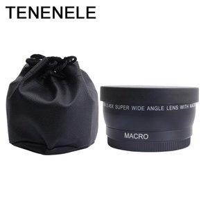 Kamera Lens 0.45X 37 43 46 49 Cap İçin Canon EOS İçin Nikon Corporation Kamera Aksesuarları ile 52 MM Geniş Açı Lens Makro Optik Lensler