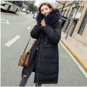 Hot Sale Big Real Fur Collar Duck Down Jacket Winter Feather Coat Long Hooded Warm Down Parkas Plus Size Outerwear