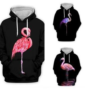 3D-Druck Flamingo und wo große 3D-Digitaldruck Flamingo Männer und Digital-Pullover Damen-Größe Pullover zxHqM