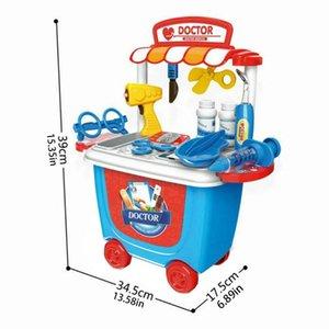 Juguete educativo de los niños S niños médica caja del kit doctor Nurse Juegos de rol juguete de aprendizaje regalos Conjunto de rol Juego de Niños'